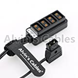 Alvin's Cables D-tap Male to 4 Port dtap Female Splitter Power Cable for ARRI RED Cameras TILTA Steadicam IDX Battery
