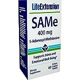 Life Extension SAMe (S-Adenosyl-Methionine) 400 mg 60 Enteric Coated Tablets