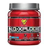BSN N.O.-XPLODE Pre-Workout Supplement with Creatine, Beta-Alanine, and Energy, Flavor: Blue Raz, 45 Servings
