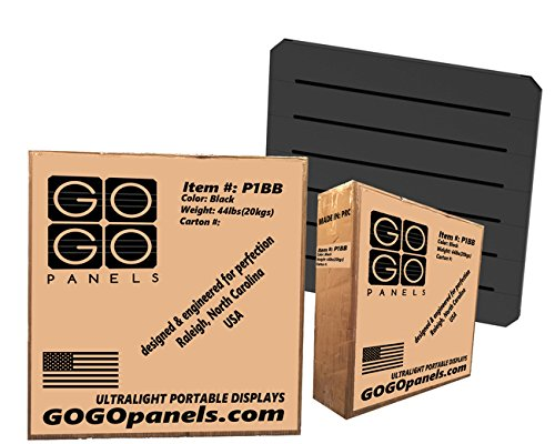 GOGO Panels - P1BB - Black Standard Panel 2' x 2' - 8-pack by Gogo Panels