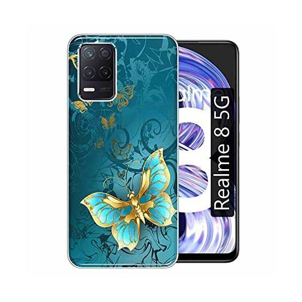 Gismo Designer Printed Soft Silicone Pouch Back Case Mobile Cover for Realme 8 5G / for Boys and Girls - A30 2021 July Back Cover Type & Material: Soft Silicone TPU designer back cover for Realme 8 5G. Designs are printed on the backside of the soft case. Anti-Scratch and Anti-Finger: Gismo's back covers are smudge-free and anti-scratch so that your cover always feels new and looks stylish. Easy Access to All Ports and Buttons: Gismo's back covers fit with 100% compatibility so that you can easily access all the ports and buttons after easy installation of the cover.