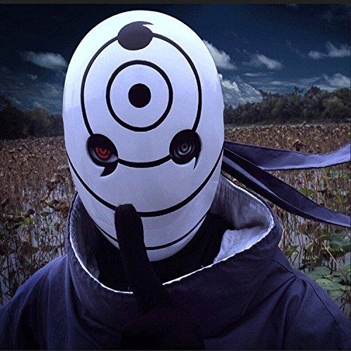 [2317 NEW Halloween Party Cosplay New Version Naruto Obito Anime Masks Tobi Mask Uchiha Cosplay Costume Movie Prop] (Tobi Mask Costume)
