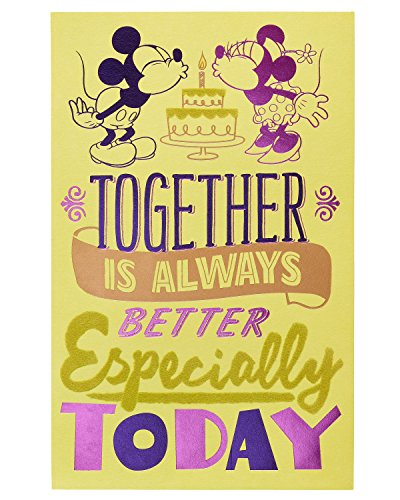 American Greetings Romantic Mickey Mouse Birthday Card with - Mickey Card Birthday Mouse