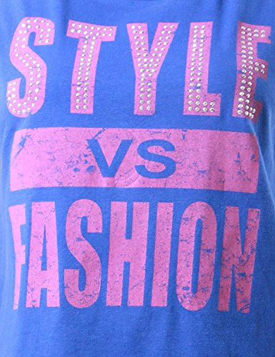 Active Ladies Style vs FashionGraphic Tank Top Womens Stud Accent (LARGE, BLUE)
