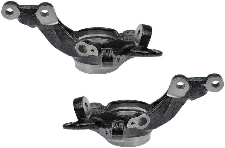 AutoShack KN798296PR Pair of 2 Front Driver and Passenger Side Steering Knuckles Replacement for 2014-2017 Hyundai Accent.
