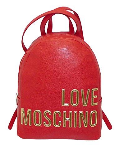 Scritta Moschino Love Zaino Rosso Gold Jc4081pp13ll0500 71vn0w4qx