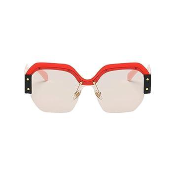 35932c989e32 Kingfansion Large Oversized Ladies Women Sunglasses Designer Half Frame  Retro Fashion 2018 (C)  Amazon.ca  Sports   Outdoors