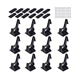 Child Safety Cabinet Locks Latches - 12 Pack,Kids Baby Proofing Lock Child Proof Drawer Locks - Cupboard Hidden Latch - 3 M Adhesive,Door Spring Lock - No Tools,Drill (Black)