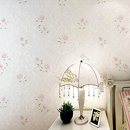 non woven wallpapers romantic bedroom bedside wall korean pastoral