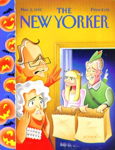 New Yorker cover Risko Bush Clinton Halloween 11/2 -