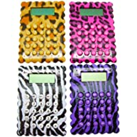 Inkology GlamAzon Calculators, Set of 6, Assorted Animal Prints (871-2)