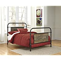 Signature Design by Ashley B446-72 Trinell Rustic Metal Bedset Headboard, Full
