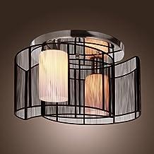 LightInTheBox Ceiling Light Modern Design Bedroom 2 Lights Black, Modern Home Ceiling Light Fixture Flush Mount, Pendant Light Chandeliers Lighting