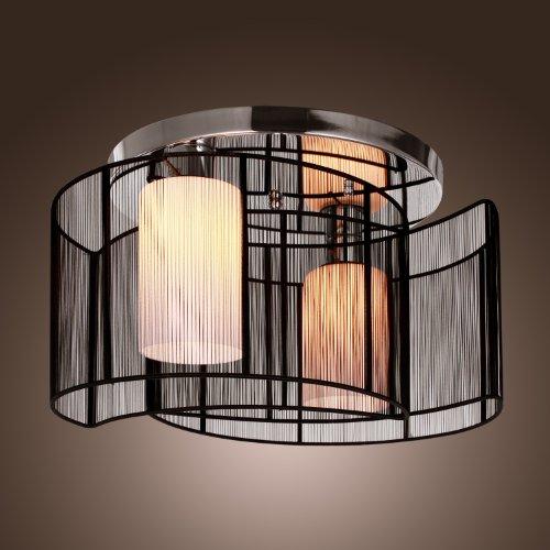 LightInTheBox Black Semi Flush Mount with 2 Lights, Mini Style ...