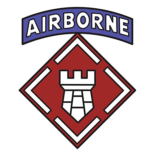 Army 20th Engineer Brigade with Airborne Tab Veteran Unit Sticker (Engineer Units Us Army)