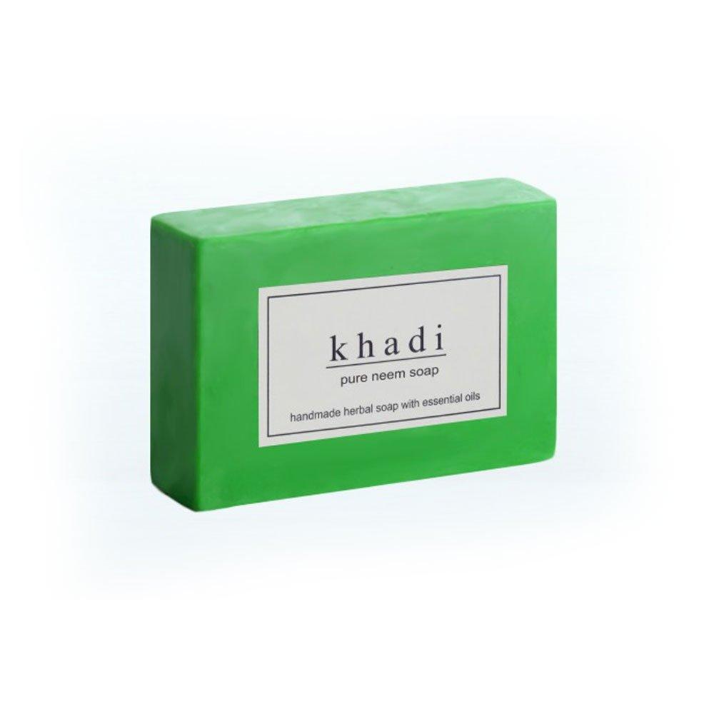 Khadi Natural Ayurvedic Herbal Handmade Pure Neem Soap (125 g)