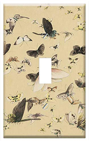 Switch Plate Single Toggle - Vintage Old Fashioned Antique Japanese Art 1