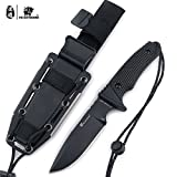 HX outdoors - Fixed Blade Tactical Knives with Sheath,Tanto Blade Outdoor Survival Knife,Made of D2 Steel and Ergonomic Non-Slip Handles (Explore)
