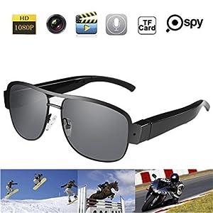 MDTEK@HD 720P Mini Hidden Spy Cameras Sunglasses Camera Metal Frame Glasses Eyewear Video Recorder Mini Sports DVR