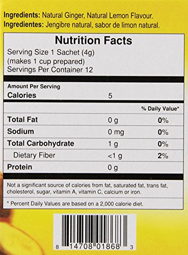 Amazon.com : Gold Kili All Natural Ginger & Lemon Beverage Brewing Bags, 1.68-Ounce Boxes (Pack of 6) : Herbal Teas : Grocery & Gourmet Food
