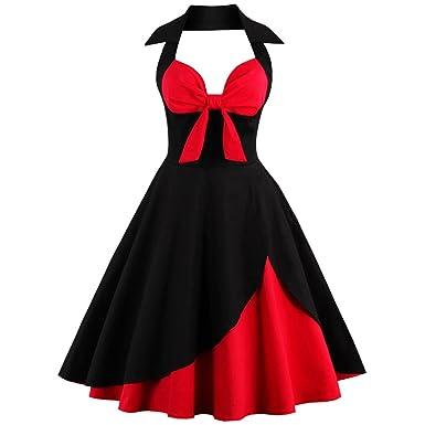 Red /& Black Roses Floral Flocked 50s Rockabilly Retro Vintage Christmas Dress