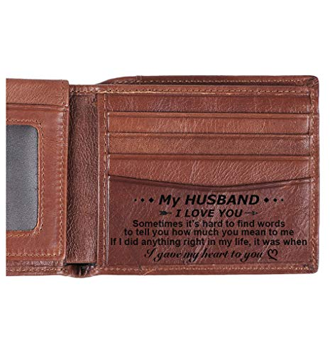 Personalized Wallet Leather Bifold Husband product image