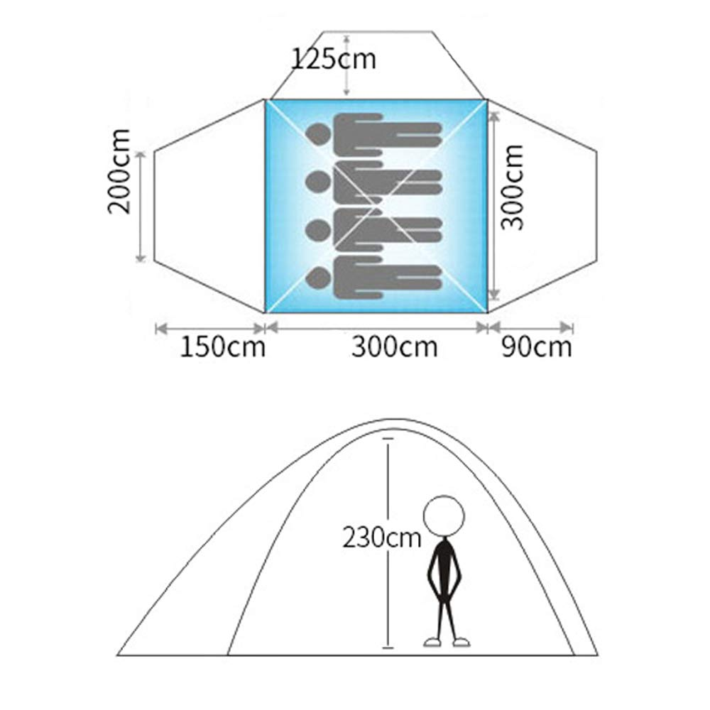 LBAFS Im Im LBAFS Freien Große Automatische Zelt-Aluminiumpol-Quadrat-Spitzen-Markise Für Park-Freizeit-Kampieren, 5-8 Person,Grün b60fd0