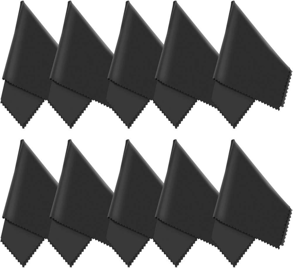10x Grutti Mikrofasertücher 20x20 Cm Mikrofaser Brillenputztuch Kamera Objektiv Microfaser Reinigungstücher Lcd Led Tv Bildschirm Microfasertuch Reinigung Laptop Pc Display Reiniger Tuch Bürobedarf Schreibwaren