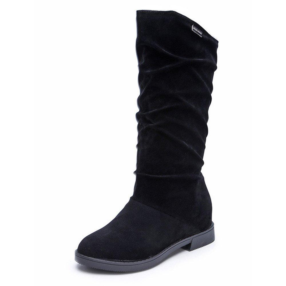 Weant Chaussures Femme Bottes Bottines Femme Leather Boots Bottes dautomne et dhiver des Bottes de Femmes de Mode des Bottes de Neige Chaussures de Mouton Plat Bottes et Boots