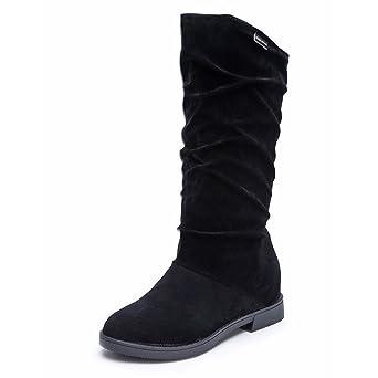 Damen Stiefeletten Schnürboots Stiefel Winter Sneaker Schuhe Strick Gefüttert