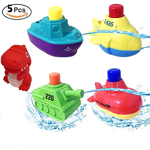 Keklle Bath Toys, Pool Toys, Boat Set, Speed Boat, Bathtub Toy, for Toddlers Boys and Girls