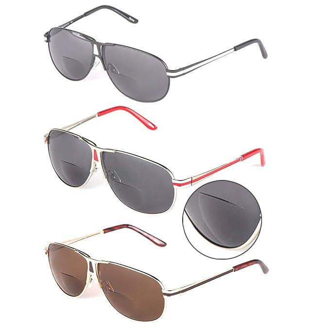 Amazon.com: Paquete de 3 Bifocal anteojos de sol con lentes ...
