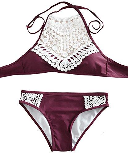 PL Womens Splicing Halter Bikini