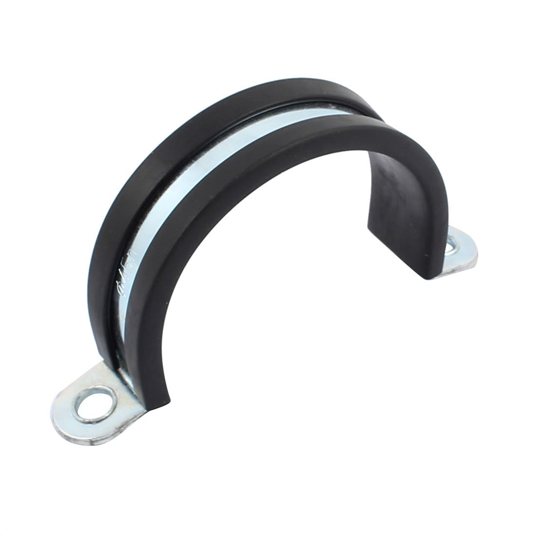sourcingmap 45mm Dia EPDM Rubber Lined U Shaped Zinc Plated Pipe Clips Hose Tube Clamp a17010900ux0821