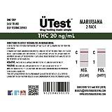 ÜTest: MOST Sensitive Instant THC 20 ng/mL Marijuana Single Panel Home Drug Test (2 pack) *LOW Detection Level* - Customer Service Included
