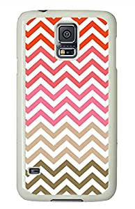 Colored Stripes PC White Hard Case Cover Skin For Samsung Galaxy S5 I9600