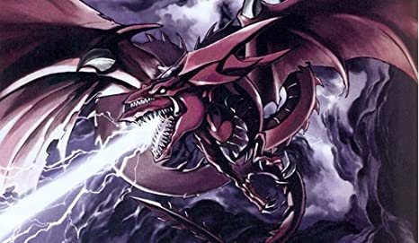 amazon com 293 yugioh slifer the sky dragon playmat includes one