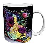 Dean Russo Dog Love Quote Modern Animal Art Porcelain Gift Coffee (Tea, Cocoa) 11 Oz. Mug