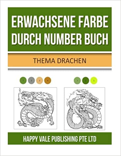 Erwachsene Farbe durch Number Buch: Thema Drachen: Amazon.de: Happy ...