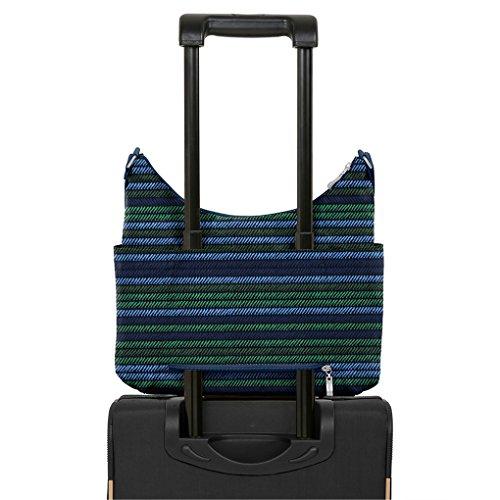 Bag Black Emboss Stylish Pockets Cheetah Hobo Cross Baggallini Tote Functional qEfUwCUa