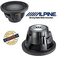 (2) Alpine Type R 12 Inch 2250 Watt Max 4 Ohm Round Car Audio Subwoofer