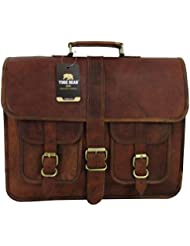 Yuge Bear 16 B2P Mens Vintage Style Genuine Leather Laptop Bag Briefcase Satchel