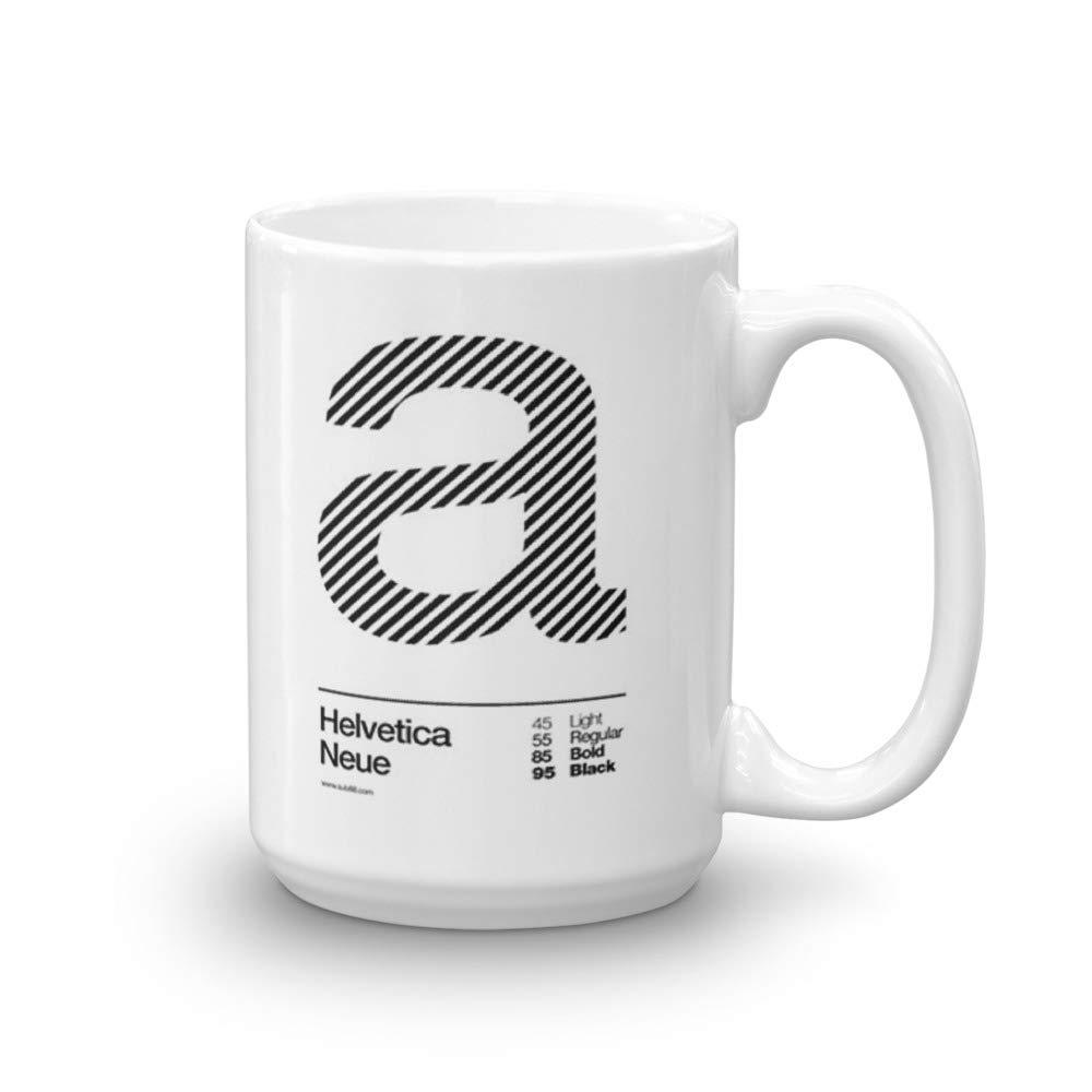 Amazon com | a Helvetica Neue (b) 15 Oz White Ceramic