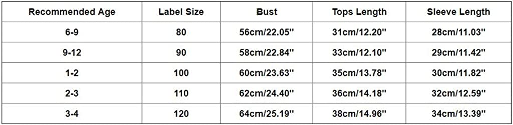 Zerototens Children Christmas T-Shirt,0-4 Years Old Toddler Baby Boys Girls Cartoon Deer Letter Print Long Sleeve Pullover Sweatshirt Blouse Tops Autumn Winter Casual Outfit 6-12 Months, Red 82