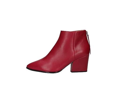 Unisa Leiki Botines Bajos Mujer Rojo 36: Amazon.es: Zapatos y complementos