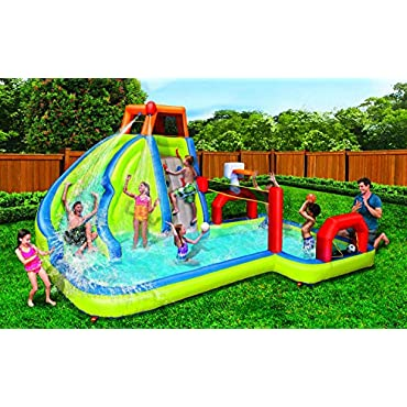 BANZAI Aqua Sports Water Park Kids Inflatable Backyard Slides, 90350