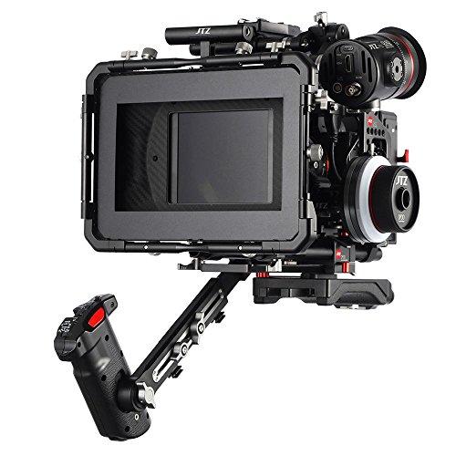 JTZ DP30 Camera Cage Baseplate DSLR Rig & Top Handle+Shoulder Grip+Matte box+Follow Focus+Power Supply for Panasonic Lumix GH3 GH4 GH5 by JTZ