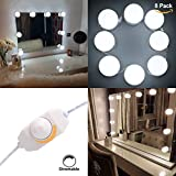 Hollywood Style Makeup Mirror LED Light Kit S&G Super Star Style LED Vanity Makeup Mirror Light Bulbs (8 bulbs with adapter)