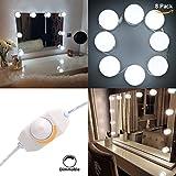 Hollywood Style Makeup Mirror LED Light Kit S&G Super Star Style LED Vanity Makeup Mirror Light Bulbs (8 bulbs with adapter)