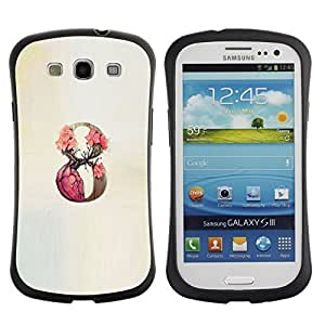 Be-Star Colorful Printed Design Anti-Shock Iface First Class Tpu Case Bumper Cover For SAMSUNG Galaxy S3 III / i9300 / i747 ( 9 infinity rose spring beige number ) Kimberly Kurzendoerfer